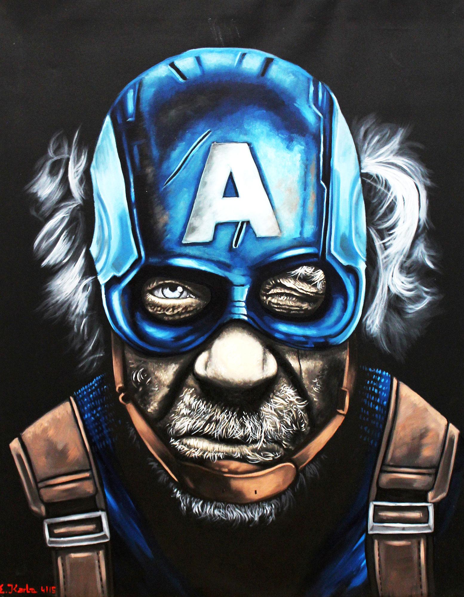 Homeless Heroes Captain America